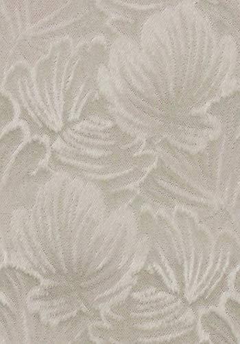 Tela para muebles Mohair Stockholm 974, diseño de flores, color gris como tejido de funda robusto, tela de tapicería gris con flores para coser y colocar, mohair, viscosa
