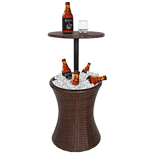 Outdoor Patio Table with Wine/Beer Ice Cooler