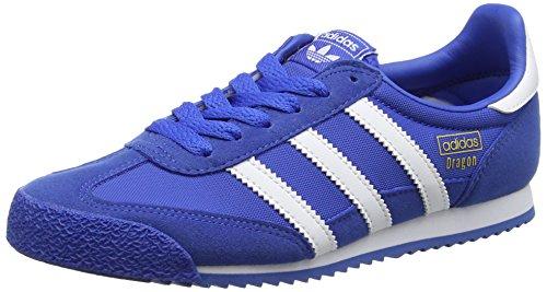 Adidas , Baskets Basses Mixte Enfant, Bleu Footwear White/Blue, 36 2/3 EU