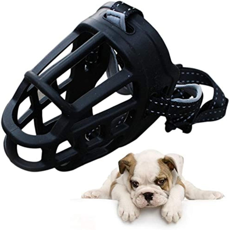 Pet Muzzle  Soft Rubber Dog Training Muzzle Adjustable Strap Silicon Basket Pet Medium Black Red  Cad Frump Gag Familiari Firedog Detent Gunpoint Hound Gun Tail Andiron Pawl  1PCs