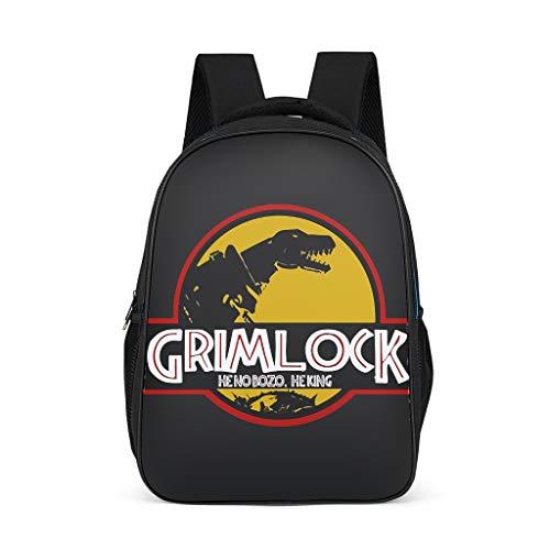Stylischer Grimlock Jurassic Kinder-Rucksack, mehrere Fächer, jurassic Reißverschlusstasche für Grills, grau (Grau) - None Branded-SJB22