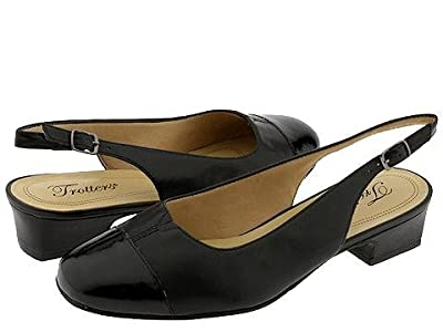 Trotters Dea (Black Patent/Black Leather) Women