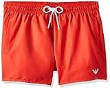Emporio Armani Swimwear Shorts Beachwear Essential Costume da Bagno, Rosso (Fiamma 00175), Medium (Taglia Unica: 50) Uomo