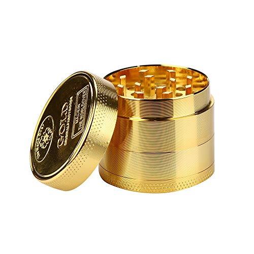 TOOTLESHOP- Molinillo de especias dorado – Molinillo de aleación de zinc para hierbas – Grinder
