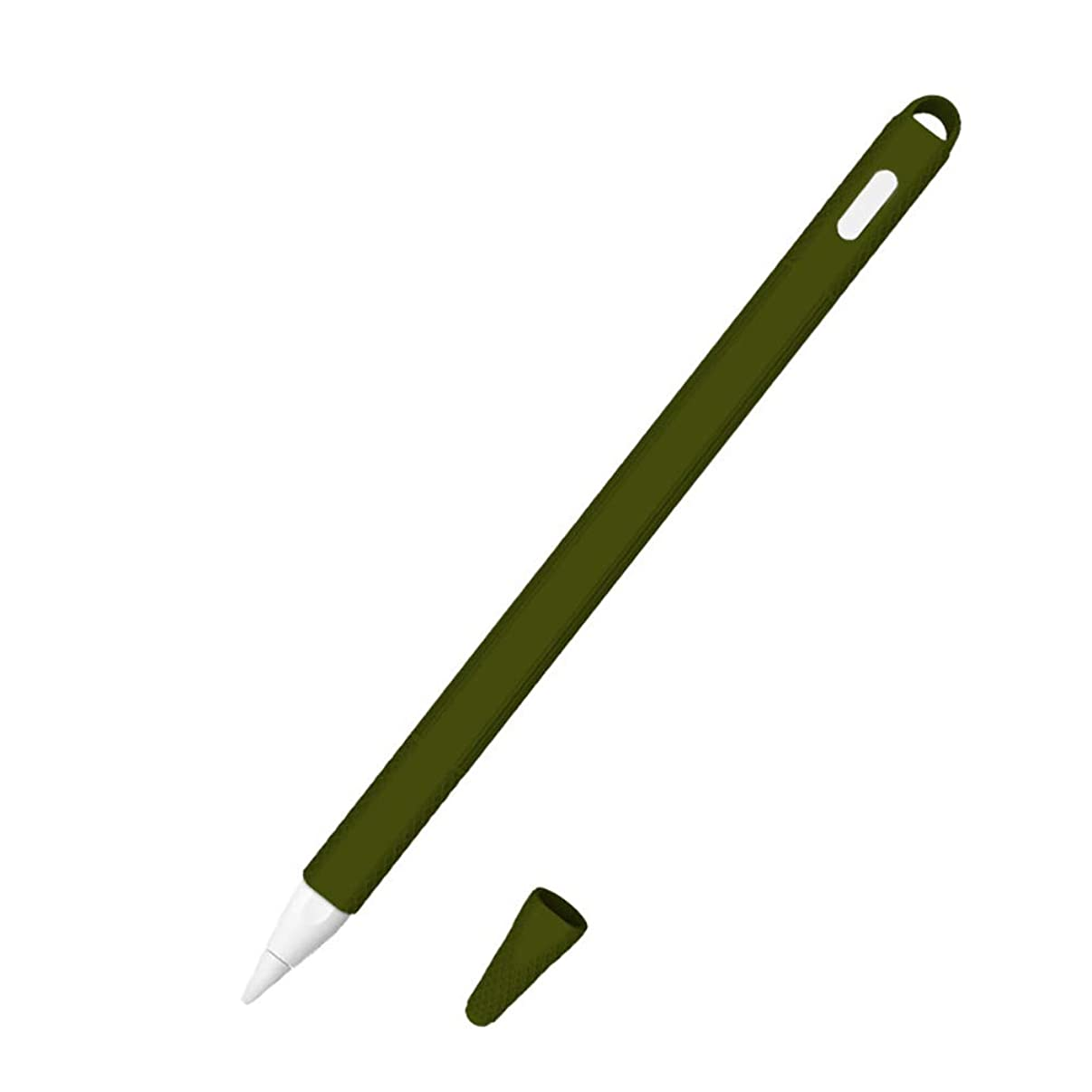 Gyswshh Anti-Slip Silicone Stylus Protective Case Cover Skin for iPad Apple Pencil 2 Gen Army Green