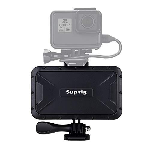 Suptig Portable Charger, 7800mAh Waterproof Power Bank, Compatible for Gopro Hero 9 Hero 8 Hero 7 Hero 6 Hero 5 Hero 4 Hero Session Hero + DJI osmo AKASO Digital Camera and Smartphone