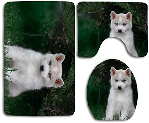 Trista Bauer Little Husky Baby sont des Tapis 3pcs Set Tapis