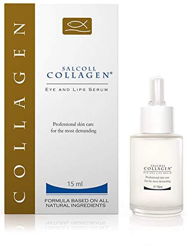 SALCOLL COLLAGEN Anti-Aging Eye & Lip Serum - Anti-Wrinkle, Hypoallergenic Face Treatment For Women & Men, Reduces Eye Bags, Dull Skin, Dark Circles, 15 ml