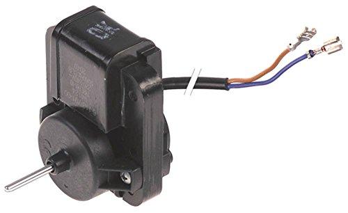 Cookmax fläktmotor F61-10 för 629001 230 V 50/60 Hz höjd 74 mm axel ø 3x22 mm bredd 61 mm kabel 450 mm djup 40 mm