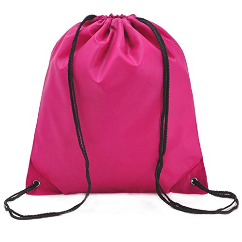 SKYXIU Bolsa de almacenamiento portátil de viaje a prueba de polvo impermeable de nylon organizador de zapatos de viaje bolsas de asas con cordón, rosa roja (Rojo) - 10L5GYDU6T