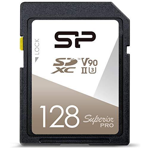 シリコンパワー SDXCカード 128GB プロモデル UHS-II U3 V90 8K Ultra HD 対応 R290MB/s 5年保証 SP128GBSDXJA2V10