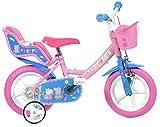 Dino Bikes 124RL-PIG Peppa Pig Bicycle, Pink, Inch, Bicicleta Infantil, Rosa, 12 Pulgadas