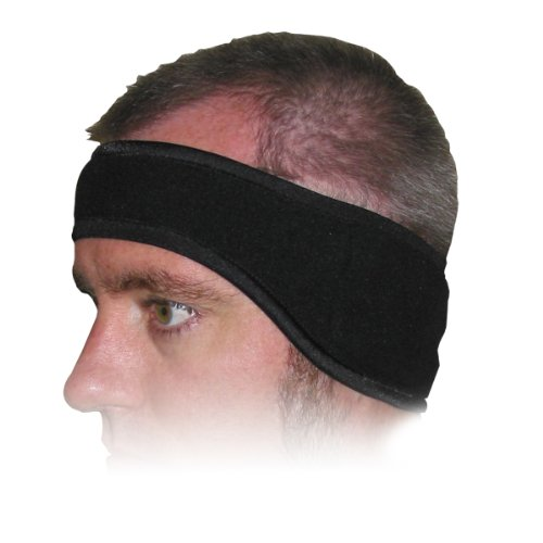 Heat Factory Fleece Ear Headband with Hand Heat Warmer Pockets, Black