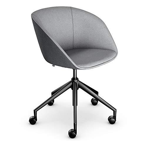 Sedus Bürostuhl, Loungechair, Clubsessel, Wohnzimmerstuhl, Mittelgrau/Grau, kompakt, bequem