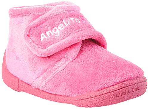 Zapatillas de estar por Casa para Niños y Niñas mod.130. Calzado Infantil Made in Spain, Garantia de Calidad. (22, Rosa Fucsia)