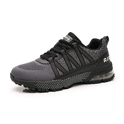 Sumateng Scarpe da Corsa Uomo Donna Scarpe da Ginnastica Sportive Walking Jogging Athletic Fitness Outdoor Sneakers Gray44
