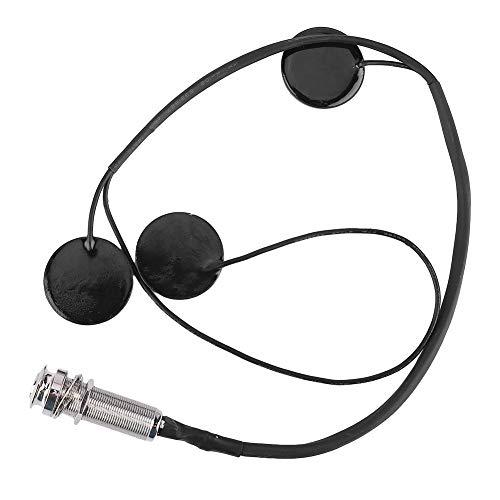 Harfen-Tonabnehmer, hochwertige tragbare Harfen-Tonabnehmer Musikinstrument-Zubehör Schwarz Erfasst mechanische Vibrationen mit genauem, klarem Ton