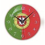CLJ-LJ 壁掛け時計木製の壁掛け時計貿易爆発ワールドカップ旗壁掛け時計小さな時計木製時計ミュートクロックリビングルームクリエイティブウォールクロック