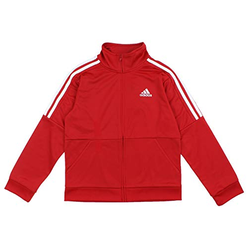 adidas Boys Youth Iconic Track Jacket (Small, Red)