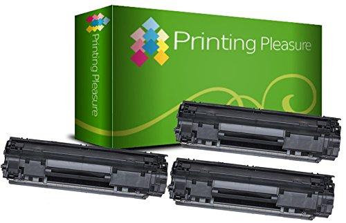 Printing Pleasure 3 Compatibles CF279A 79A XL Cartuchos de tóner para HP Laserjet Pro MFP M26nw M26a | M12 M12a M12w - Negro, Alta Capacidad (2500 Páginas)