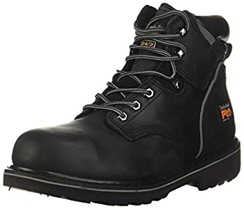 Timberland PRO Men s Pitboss 6  Steel-Toe Boot Black  11 D - Medium