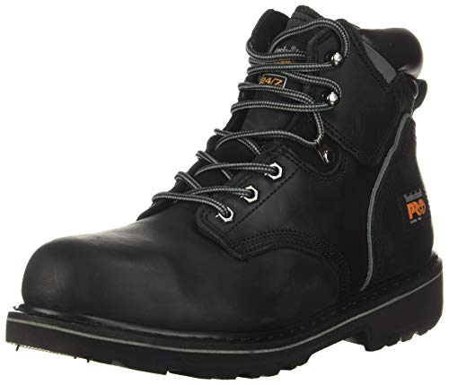 Timberland PRO Men's Pitboss 6 Steel-Toe Boot,Black,7.5 W