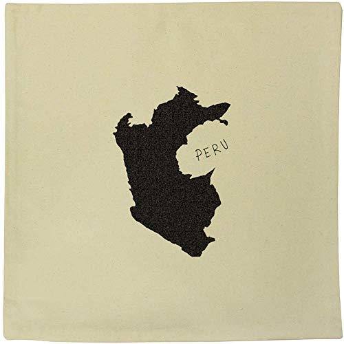 Azeeda 40cm x 40cm 'Peru Country' Canvas Cushion Cover (CV00008531)