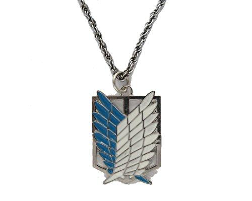 Attack on Titan Shingeki keine Kyojin Flügel-Halskette , Silber