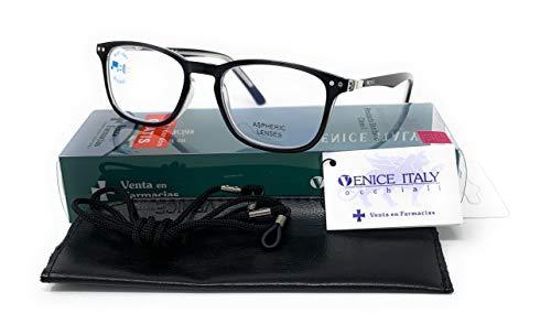 New Model 2021 Occhiali da Lettura Presbiopia UNISEX Anti Luce Blu Uomo e Donna Computer Glasses Professional Venice Visione Chiara - Moda Comodo - diversi colori (Nero, 2.00)