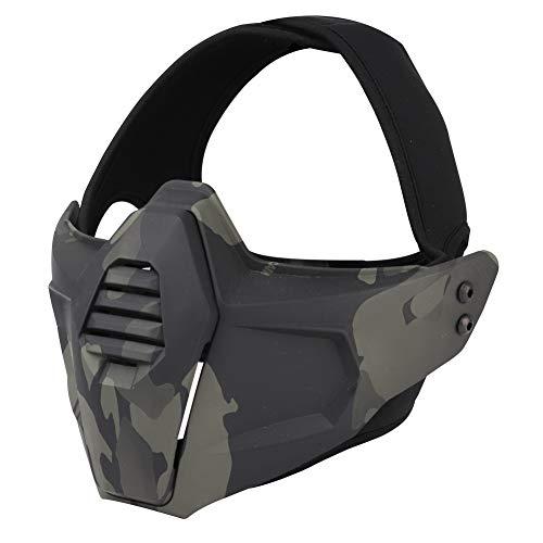 Máscara de Caza Táctica, Airsoft Mascarilla, Disparar Wargames Camo Mask, Máscara...