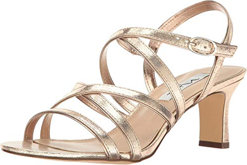 NINA Women's Genaya Dress Sandal, Fy- Taupe/Fairy Dust, 9.5 M US