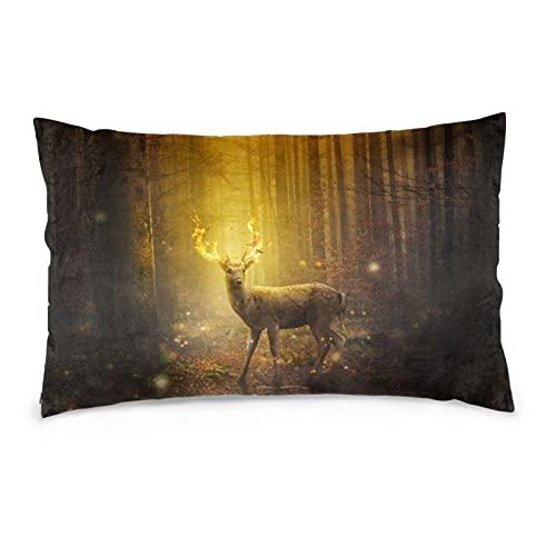 Dear Forest - Funda de almohada decorativa para decoración del hogar (50,8 x 76,2 cm)