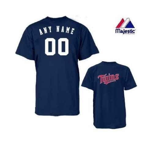 39b31a833 Amazon.com   Minnesota Twins Personalized Custom (Add Name   Number) 100%  Cotton T-Shirt Replica Major League Baseball Jersey   Clothing