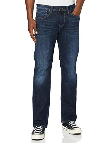 Pepe Jeans Kingston T- Shirt, Denim (11oz Streaky Stretch Dk), 29W / 32L Homme