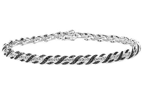 Naava Pulsera para Mujer de Oro Blanco 9K con Diamante ct
