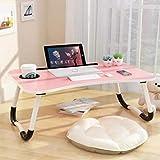 Mesa de cama para ordenador portátil, escritorio de dormitorio, escritorio de regazo portátil,...
