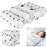puseky 4 confezioni di mussola per neonato avvolgere coperte di coperte neonato ricevere c...