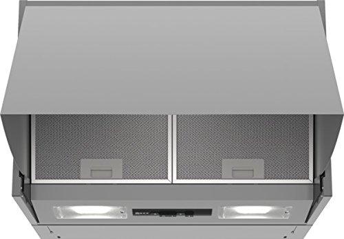 Neff D61MAC1X0 / DMAC611X / Dunstabzugshaube / Zwischenbauhaube / 59,9 cm / Silber / Drucktasten für 3 Leistungsstufen