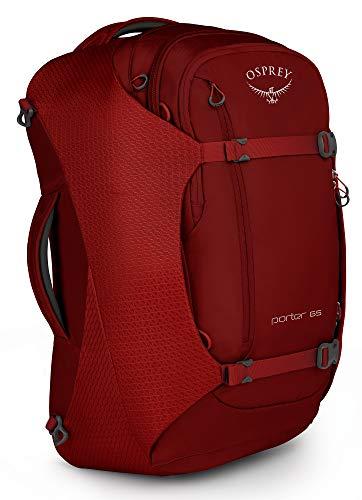 Osprey Packs Osprey Packs Porter 65 Travel Backpack, Diablo Red, One Size, Diablo Red, One Size