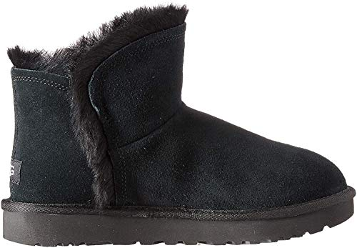 UGG W Classic Mini Fluff High-Low, Botas para Mujer, Negro (Black Blk), 40 EU