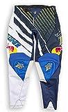 Kini Red Bull Vintage Pants – Motorcross Hose, Herren, Motorsport, Ergonom. Passform, Quattro-Stretch-Spandex, Air Mesh & TPR - Yellow/Blue (Gr.S)