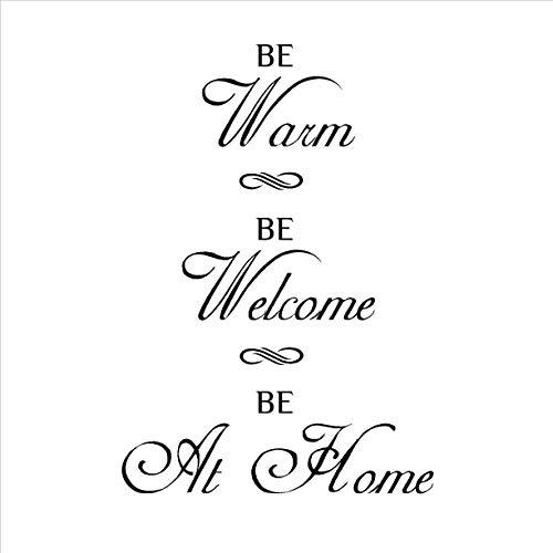 "Wandtattoo aus Vinyl, Aufschrift ""For Your Home Be Warm Be Welcome"", abnehmbar, 81 x 56 cm"