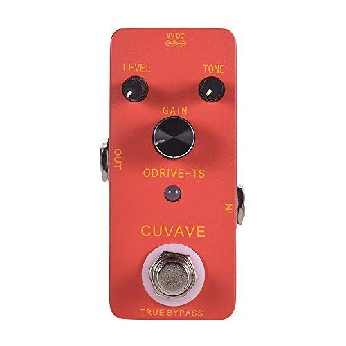 GOBUY CUVAVE ODRIVE TS-analógico Overdrive Guitarra Pedal de Efectos de Pedal de aleación de Zinc Shell True Bypass Guitarra de Accesorios de Guitarra
