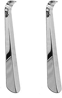 2pcs Calzadores de acero inoxidable, Calzador Pequeño 30 cm de Largo para Zapatos Metálico Acero Robusto Duradero con Gancho Diseño Elegante y Ergonómico de Viaje Cómodo de Usar
