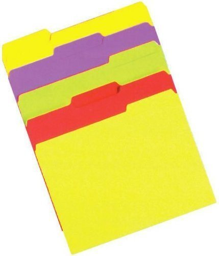 FILE FOLDERS NEON LTR SZ by PACON