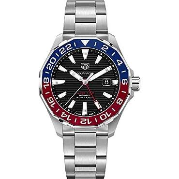 Tag Heuer Aquaracer 300M Automatic GMT Pepsi Bezel Steel Men's Watch WAY201F.BA0927