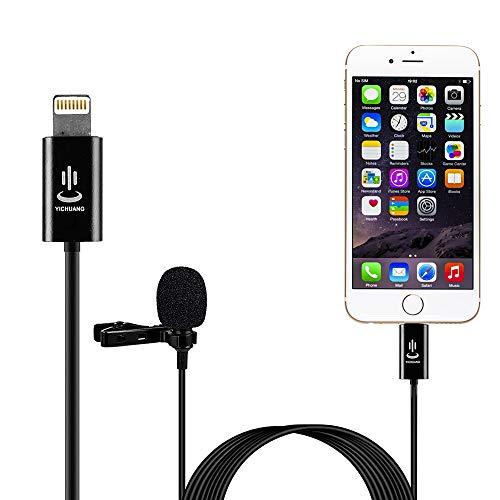 YC-LM22 6m Professional Upgrade Version Grade Lavalier Lapel Omnidirectional Phone Audio Video Recording Lavalier Condenser Microphone for iPhone 11 X Xr Xs max 8 8plus 7 7plus 6 6s 6plus 5 / iPad