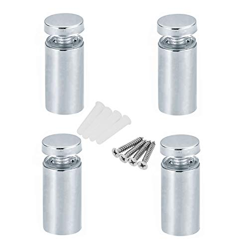 Movilideas - 4 Separadores de Acero Inoxidable de 20x12mm Para Separar de la Pared Metacrilato o Cristal o Fijación de Letreros