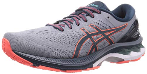 ASICS Mens Gel-Kayano 27 Running Shoe, Sheet Rock/Magnetic Blue, 46.5 EU
