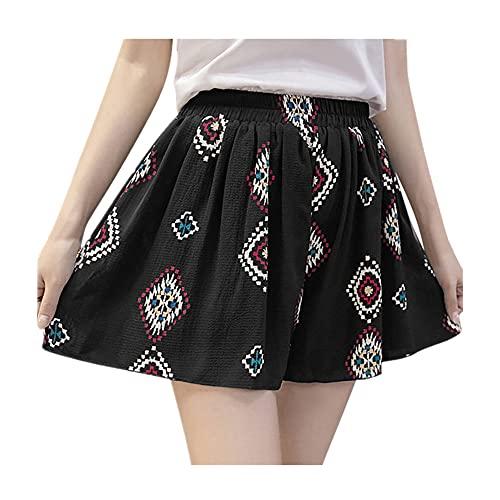 Pantalones Cortos de Verano Faldas sin Fisuras Ropa Femenina de Cintura Alta Grande